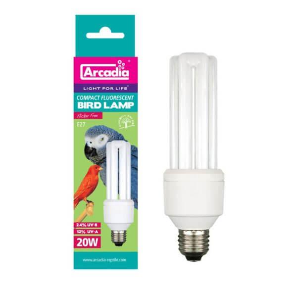 Ультрафиолетовая лампа для птиц Arcadia Е27 20w Compact Bird Lamp Arcadia