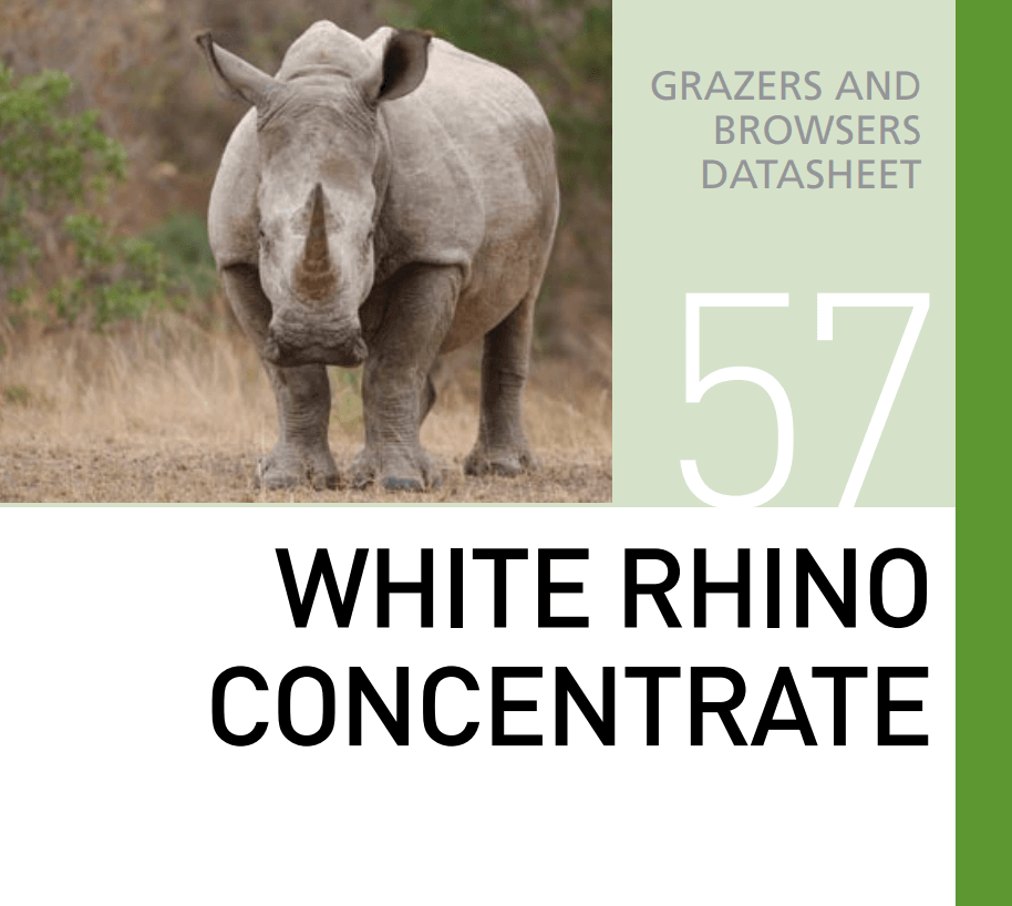 Корм для носорогов White Rhino Concentrate Mazuri Zoo Foods